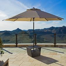 side patio table with umbrella hole
