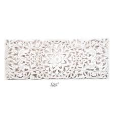 fl carved wooden wall art panel