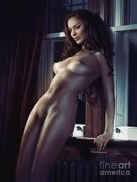 Sexy Woman Standing Naked At A Window Erotic Print Photograph By Maxim Images Prints