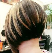 2clic stacked bob with highlights