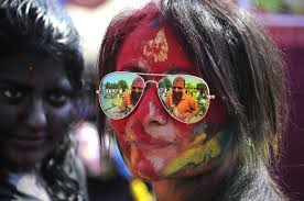 photos revelers let loose during holi festival in pbs girls smeared in colors celebrate holi festival on 6 2015 in gurgaon