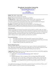 Journalism Internship Resume Sample journalism internship cover letters Eczasolinfco 1