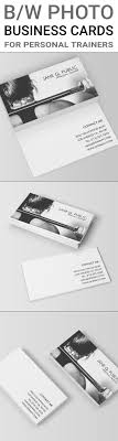 Black and white business cards template for personal trainers, fitness  trainers and athletes. The