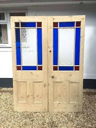 double doors victorian stained glass etched french doors double set antique period reclaimed