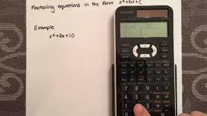 factoring a simple quadratic equation using a calculator sharp el 520x you