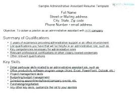 Executive Assistant Sample Resume Skills Administrative Key