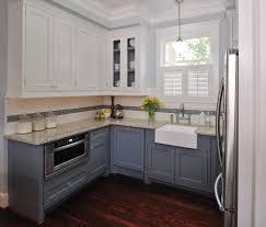 Kitchen Upper Cabinet Height Different Height Upper Cabinets Kitchen Transitional With