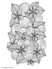 This set of printable flowers coloring pages is a place that can appeal to both boys and girls. 130 Flower Coloring Pages For Adults Free