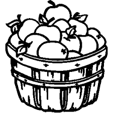 apple clipart black and white. apple basket clip art black and white clipart