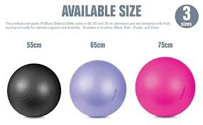 Tko Stability Exercise Ball Multiple Sizes For Stability Fitness Office Gym Balance Yoga Workout Guide Pump Included Anti Burst