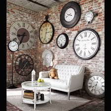 Industrial Wall Decor Industrial Chic Wall Full Of Clocks Home Decor Pinterest