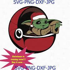 » free svg cut files. Christmas Baby Svg Clipart Baby Svg Yoda By Digital4u On Zibbet