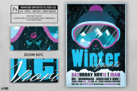 Winter Season Flyer Template | Thats Design! Store