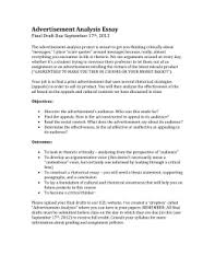 ad analysis assignment sheet revised advertisement analysis assignment sheet