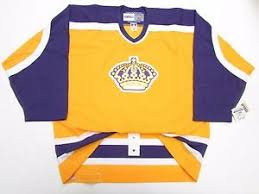 Ccm Youth Jersey Size Chart Details About Los Angeles Kings Authentic Vintage Gold Ccm 6100 Hockey Jersey Size 54