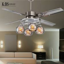 fan on sale. fan lights modern minimalist living room 52-inch stainless steel led ceiling remote control 4 ye on sale