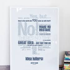Poster The Office Poster Of Ideakillers Creativity Barn Creative Thinking Posters