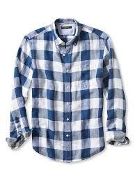 Camden Fit Buffalo Check Linen Shirt Spring 17 Bt Casual