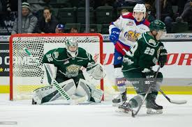 Everett Silvertips goaltender Dustin Wolf focuses on the puck through...  News Photo - Getty Images