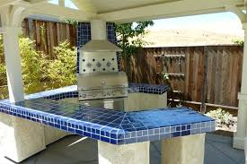 tile countertops outdoor kitchen cobalt blue tile on a home decor projects gallery