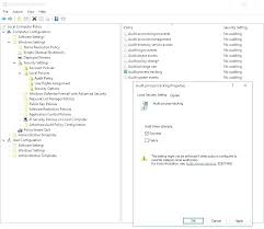 Microsoft Access Audit Template Figure 4 Template Group Policy ...