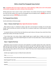 example of a five paragraph essay write a good five paragraph essay contest template printable