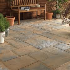 Abbey Brown Ancestry Paving Slab (L)600mm (W)300mm Pack of 52