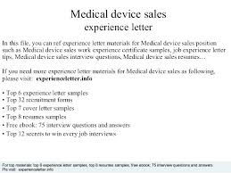 Medical Device Sales Resumes Medical Device Cover Letter Sales