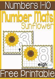 Free Sunflower Play Dough Mats for Numbers 1-10 | Free Homeschool ...