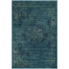 vintage blue multi 3 ft x 4 ft area rug