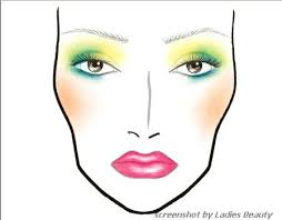 face charts from make up art cosmetics collection by mac