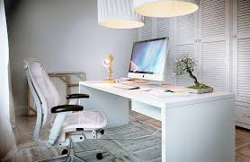 home office white desk. ergonomic swivel chair feats huge pendant lamp shade and white computer desk on modern home office stylish designs helping everyone to h