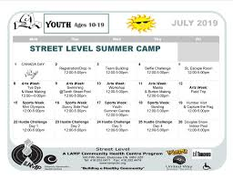 Free Summer Camp 10 19 Year Olds Street Level Lamp Community