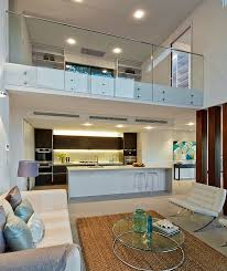 mezzanine furniture. view in gallery contemporary living room white with glass fence for mezzanine floor furniture h