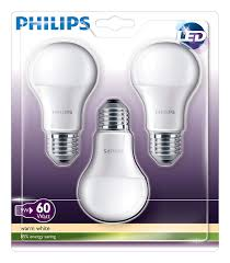 Details About Pack Of 3 Philips 9w 60w Warm White E27 Led 806lm Edison Screw Light Bulb Lamp