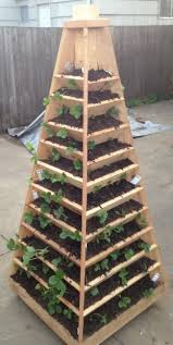 Diy Outdoor Projects How To Build A Vertical Garden Pyramid Tower For Your Next Diy