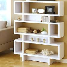 modern bookshelves with diffe unique angle three tier modern white bookcase