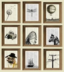 fed old book pages through a printer and printed silhouettes on them love it decor