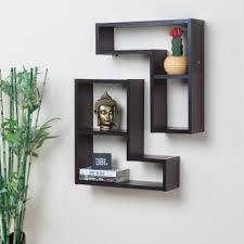 Image Tv Cabinet Inset Wall Shelf Set 2pcs Brown Homecentre Inset Wall Shelf Set 2pcs Brown Brown Compressed Wood