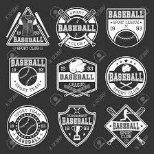 モノクロの野球チームとスポーツ服黒背景分離ベクトル イラスト コンテスト