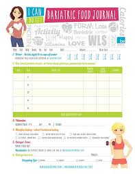 Sleeve Surgery Weight Loss Chart Here Is Your Be Bariatric Food Journal Page In 2019