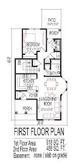 Simple Dream House Floor Plan Drawings Bedroom Story Sketch    Simple Narrow Lot Tiny House Plans Low Cost Affordable Story SF Bedroom
