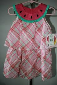 Youngland Watermelon Dress Girls Size 3t Pink Plaid Ruffle