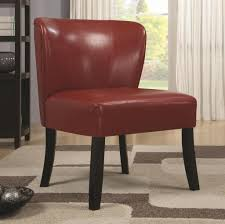 Leather Accent Chair With Ottoman Furniture Astounding Cheap Accent Leather Armless Chair Ideas
