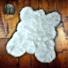 animal fur rugs details about white area rug faux fur mini mountain bear skin accent animal fur rugs