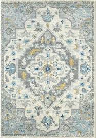 vintage inspired rug light gray medallion area rugs by living colors accent
