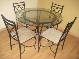 mainstays 5 piece glass top metal dining set dining room ideas