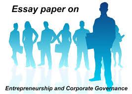 essay on entrepreneurship and corporate governance