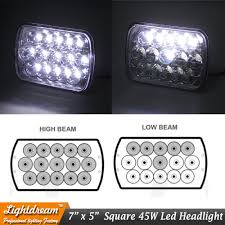 Car & Truck Lighting & Lamps <b>2pcs H4 LED</b> Light Bulbs 7x6 Square ...