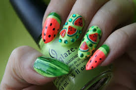 Summer Nail Designs 2014 14 Lovely Prints For Summer Fruit Nail Designs Pretty Designs